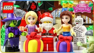 ♥ Rapunzel & Belle NIGHTMARE Before Christmas LEGO Disney Princess Cartoon for Kids