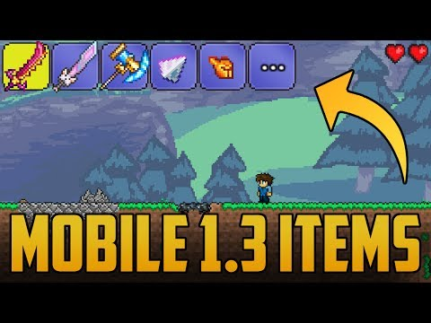 1 3 Items in Android Terraria | Retexture/Material Pack