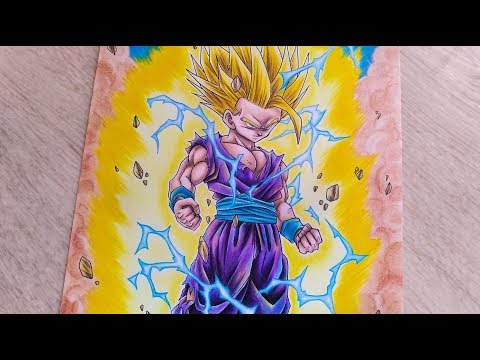 Speed Drawing Gohan Super Saiyan 2 (Dragon Ball Z)