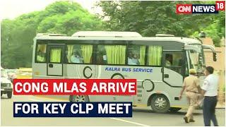 Sachin Pilot & Other Congress MLAs Reach CM Ashok Gehlot's Residence For Key CLP Meet   CNN News18