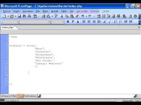 PHP Ders 12 Foreach Döngüsü