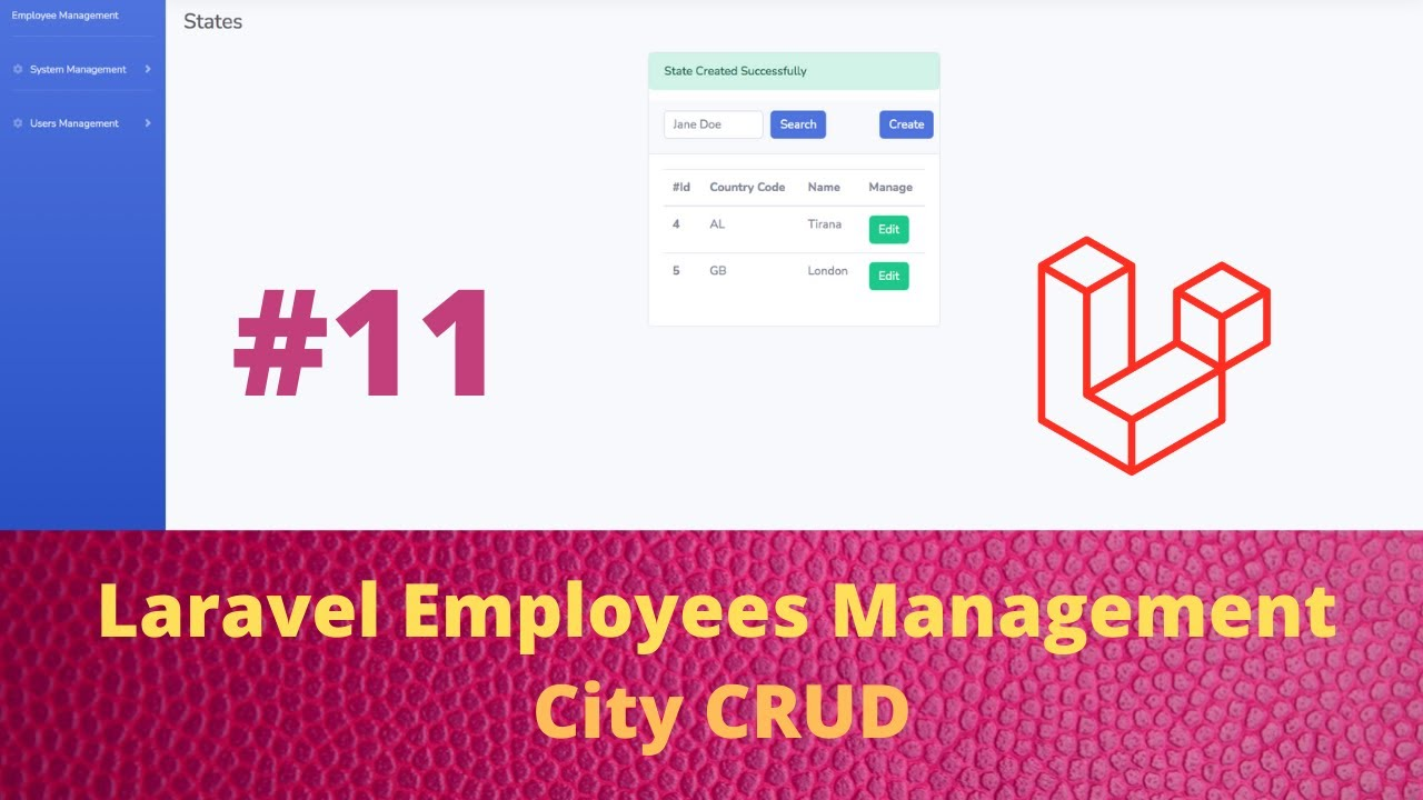 Employees Management Application with Laravel and Vuejs - City CRUD 11