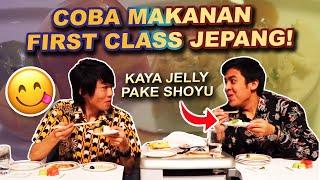 COBA MAKANAN PESAWAT FIRST & BUSINESS CLASS JEPANG! (ANA AIR)