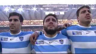 RWC 2015 Anthems - Australia vs Argentina [Semi Final]