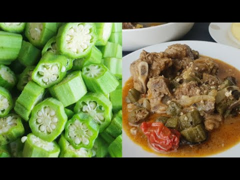 How To Remove Slime From Okra To Cook A Delicious #okra #okro