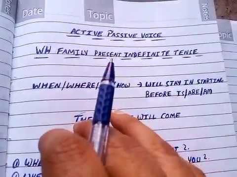 Active passive voice of WH family in present indefinite tense in Hindi