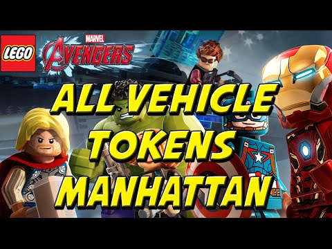 LEGO Marvel's Avengers - All 26 Race Locations in Manhattan (All Vehicle Tokens)