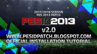 PES 2013 Download Patch Update 2017/2018 & How to Install PES-ID Ultimate Patch v2.0