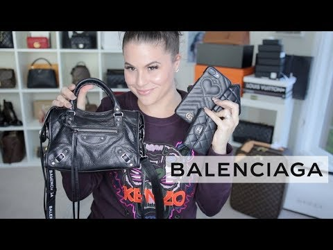 BALENCIAGA MINI CITY BAG FIRST IMPRESSIONS +WIMB |Jerusha Couture