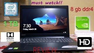 LENOVO IDEAPAD 320e core i5 8gb nvidia 940mx REVIEW HINDI BUDGET GAMING LAPTOP
