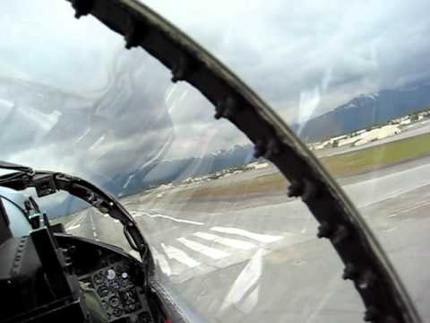 Backseat F-15 landing at Elmendorf AFB, Alaska