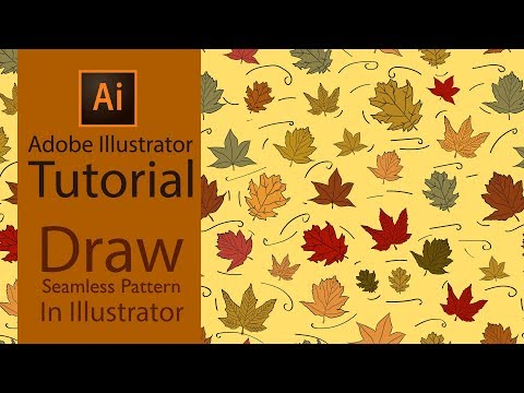 Adobe Illustrator Tutorial - Drawing Vector Pattern In Illustrator thumbnail