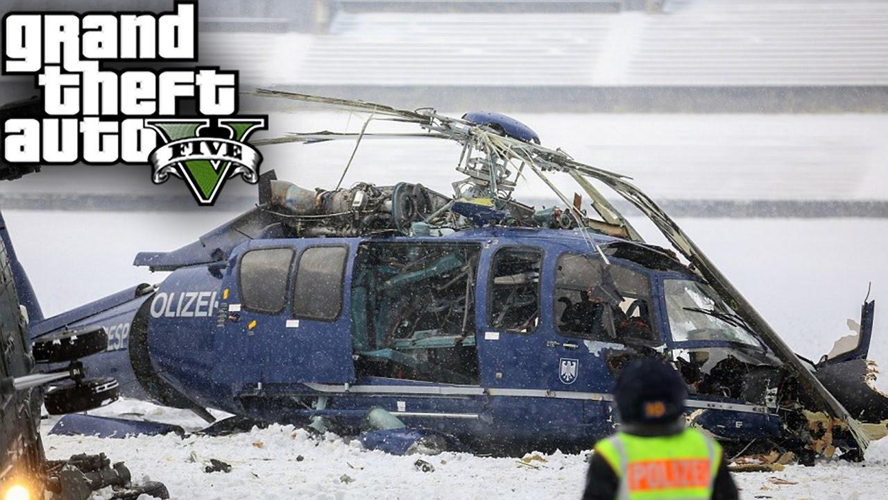 Elicottero Gta 5 : Gta mod vita reale incidente con l elicottero real