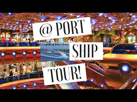 CARNIVAL FREEDOM CRUISE 2018: Tour the Ship With Me @ Cozumel Port! | Travel Vlog
