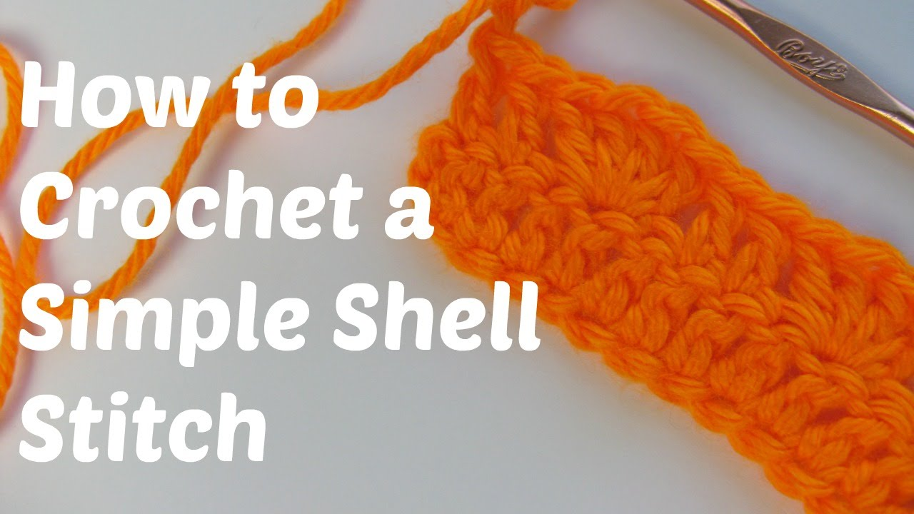 How to Crochet the Simple Shell Stitch - YouTube