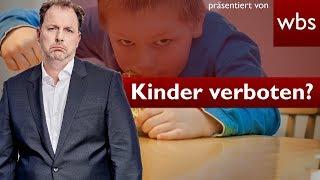 Kinder-Verbot im Café: Ist das legal? | Nutzerfragen Rechtsanwalt Christian Solmecke