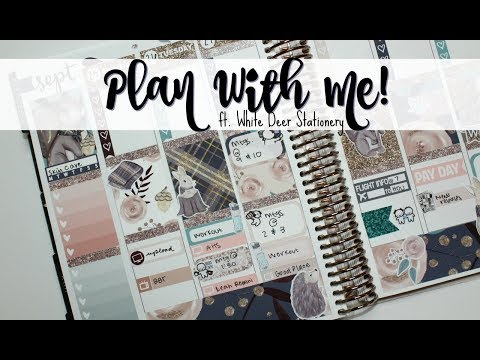 """Plan With Me! ft. White Deer Stationery """"Darling Autumn"""""""