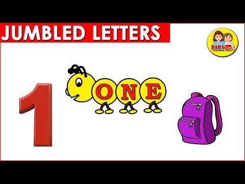 1-10 Jumbled Number Names | Scrambled Words of Numbers | Learn Number Spellings