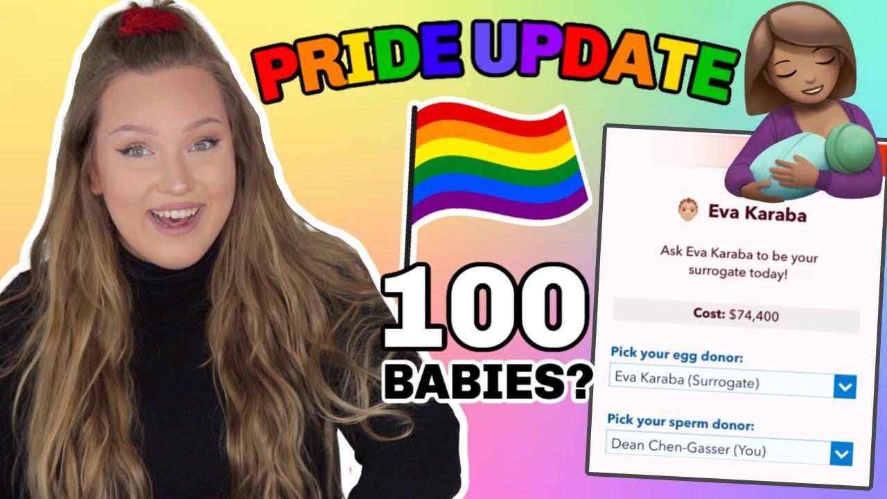 BITLIFE'S PRIDE UPDATE + SURROGACY! *IS 100 BABIES POSSIBLE?*