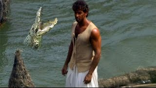 Hrithik Roshan Crocodile Fight in Mohenjo Daro