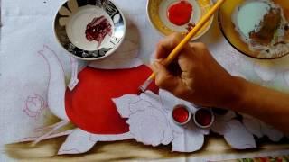 Pintando Chaleira Vermelha com Rosas Part. 1 – Ivanice Isabel