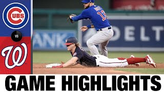 Cubs vs. Nationals Game Highlights (7/30/21)