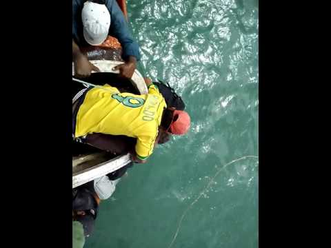 Accident while shifting boats at astola island