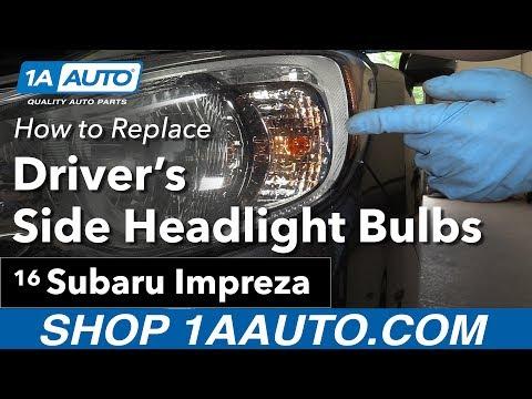 How To Replace Headlight Bulbs 11-16 Subaru Impreza
