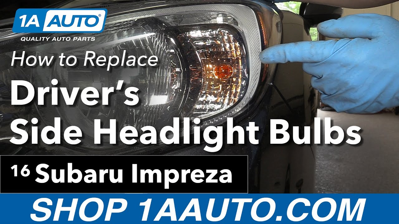 How To Replace Headlight Bulbs 11 16 Subaru Impreza Youtube 2001 Forester Wiring Diagram