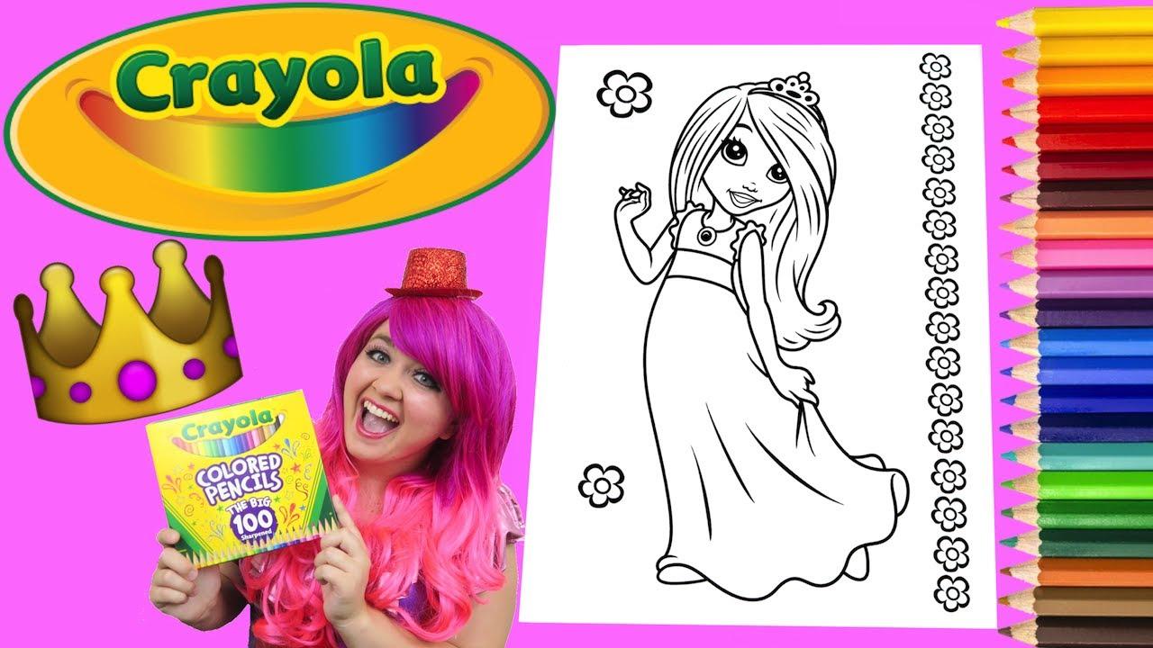 Coloring A Princess Crayola Coloring Book Page Colored Pencil ...