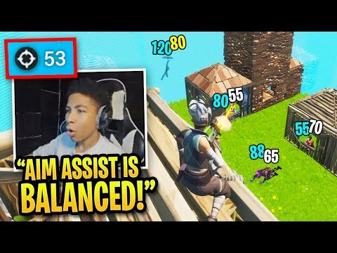 10 Minutes Of NRG Unknown ABUSING Aim Assist In Fortnite!