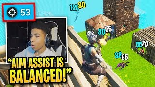 Download lagu 10 Minutes of NRG Unknown ABUSING Aim Assist in Fortnite!