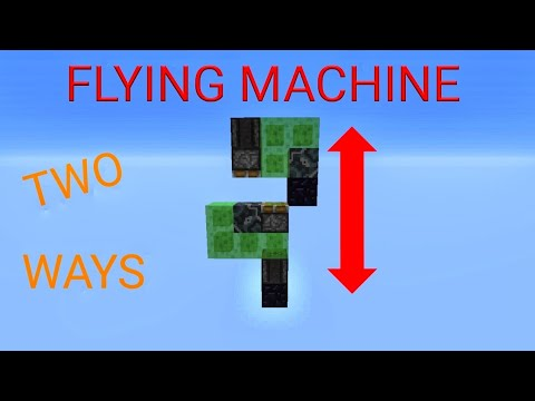 minecraft tutorial : 2 way vertical flying machine for minecraft bedrock  (pe,windows 10,   )