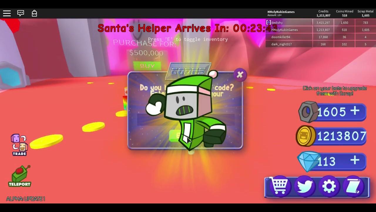 Roblox Battle Bot Simulator CODE Hholykukingames Playing