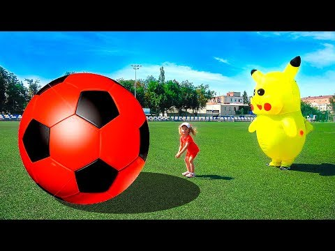 Head, Shoulders, Knees & Toes - Exercise Song For Kids | Learn Colors with Soccer balls