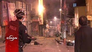 Polislerden molotof atan eylemcilere: Geri zekalı nereye atıyorsun