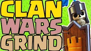 CLAN WARS WAR DAY GRIND! - Clash Royale