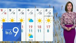 토요일 새벽까지 비 조금…큰 일교차 유의 [뉴스 9]