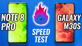 Redmi Note 8 Pro vs Samsung M30s Speed Test - Battle of the Year🔥