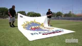 How To Paint Custom Logos On Sports Fields - Stencils