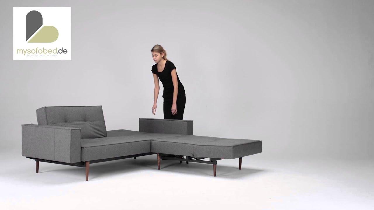 splitback wood schlafsofa mit armlehnen sessel von innovation dunkle holzf e. Black Bedroom Furniture Sets. Home Design Ideas