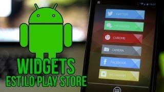 Widgets Estilo Playstore Para Android - The Happy Android