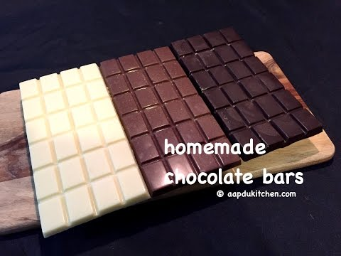 homemade chocolate bars recipe | how to make homemade chocolate bars recipe