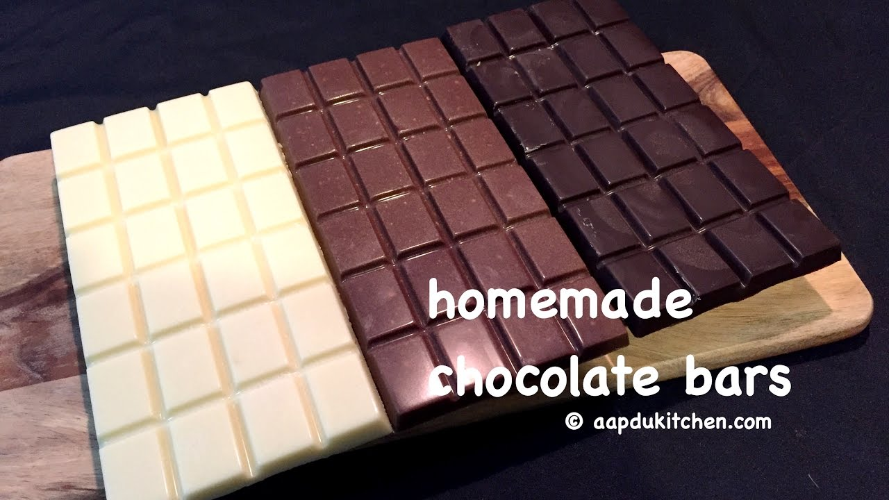 homemade chocolate bars recipe | how to make homemade chocolate bars ...