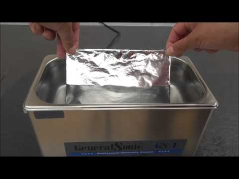 Testing the performance and quality of your ultrasonic cleaner - foil test