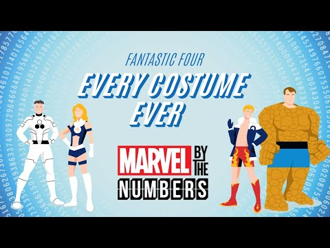 Fantastic Four: Every Costume Ever | Marvel By The Numbers