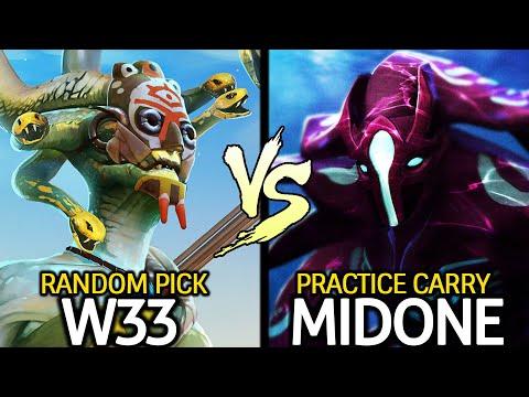 W33 Medusa Random Picked VS MIDONE Spectre Hard Practice Dota 2