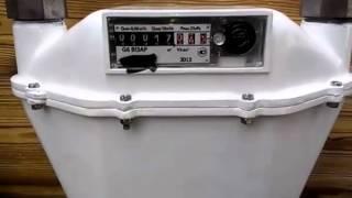 Как остановить счетчик газа Визар G-6 неодимовым магнитом