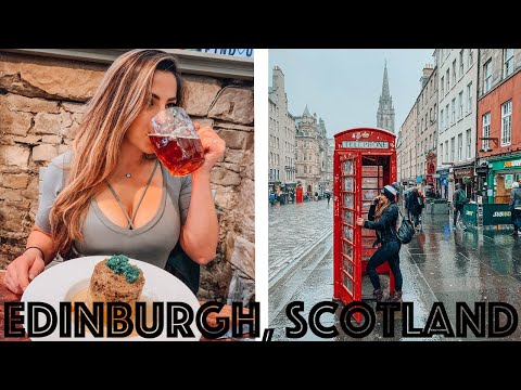 TRYING HAGGIS For The First Time In Edinburgh, Scotland | The Girl With Beer