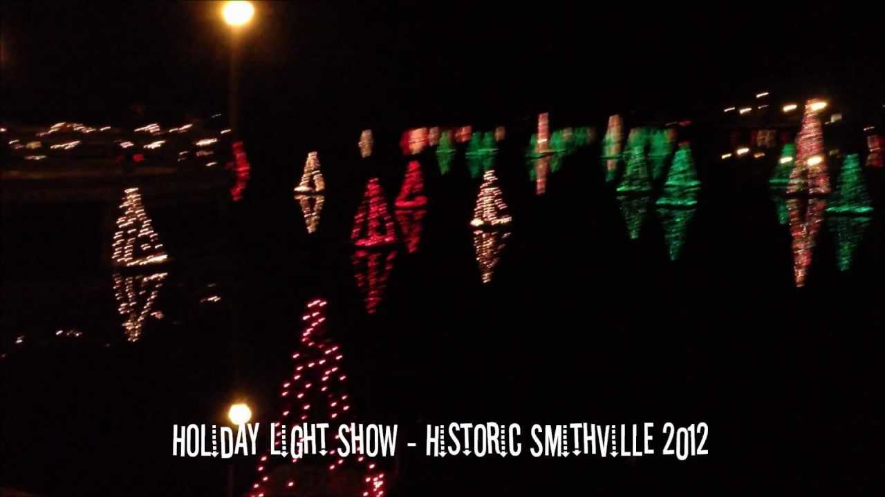 Holiday Light Show in Historic Smithville 2012 - YouTube